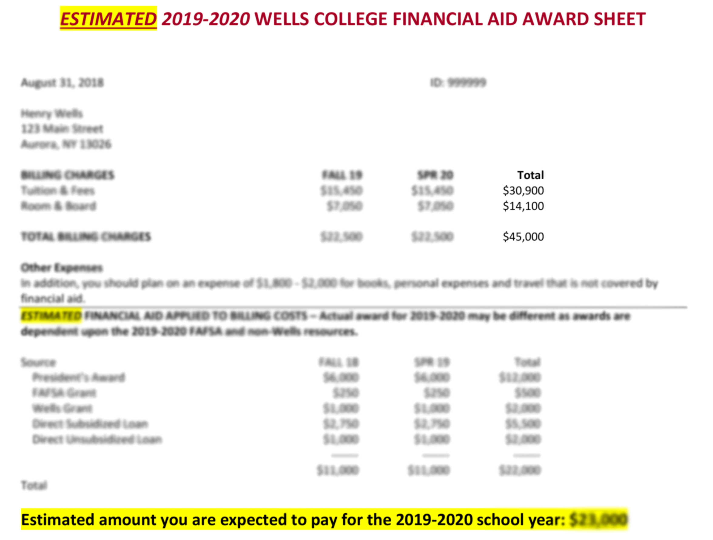 How to View Your Estimated Financial Aid Award Sheet
