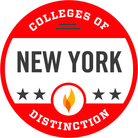 Wells College has been awarded the distinguished college in New York State badge