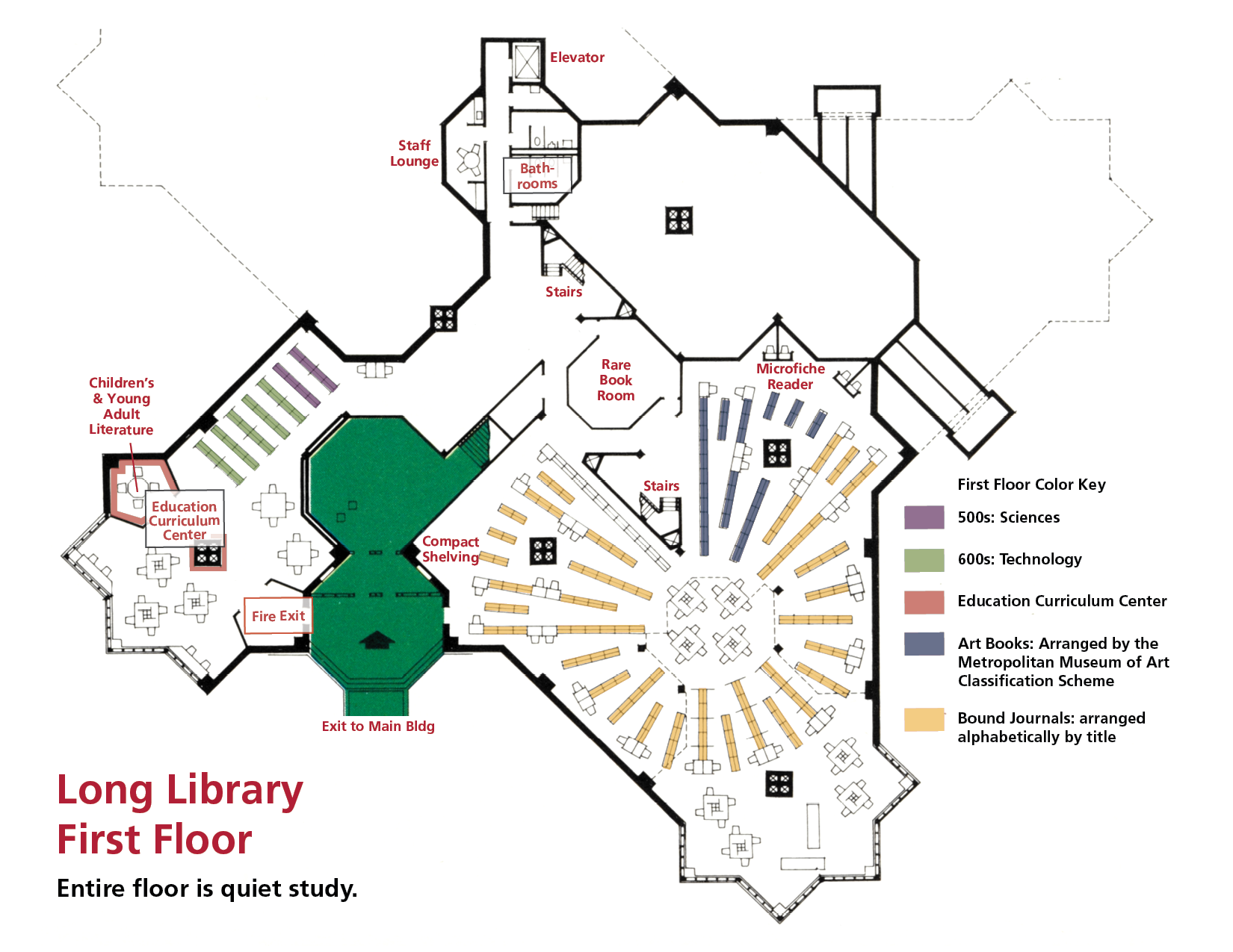 Library Map and Floor Plan | Wells College