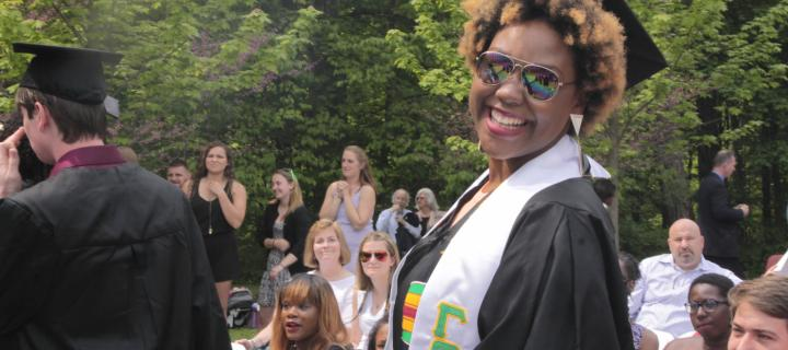 Jamyra Young '15 at Commencement