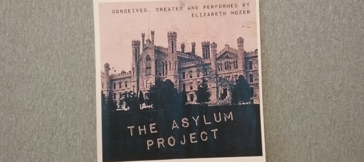 photo of old medical facility on asylum project poster