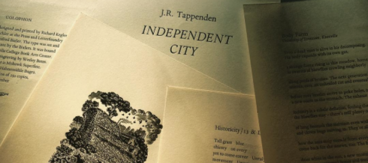 J.R. Tappenden's Independent City, winner of the 2016 wells college press chapbook contest