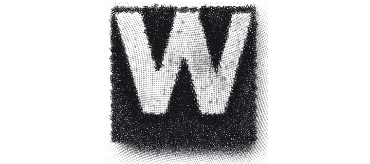 icon of the letter w made of smaller w's