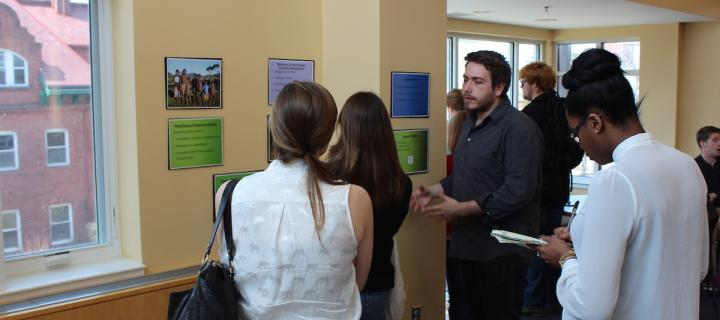 student poster session in stratton hall