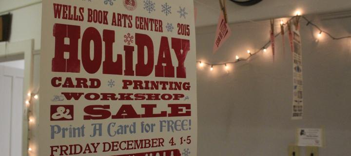 book arts center holiday card poster