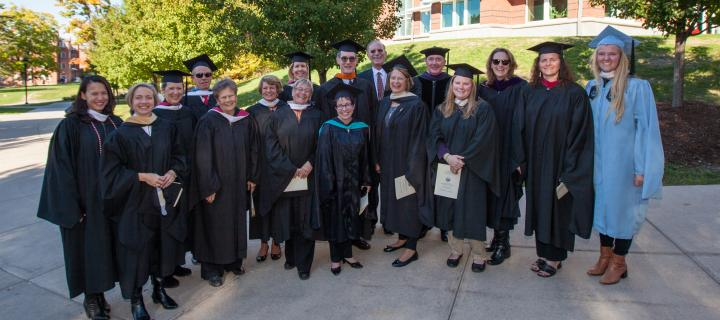Trustees in regalia at President Gibralter's Inauguration