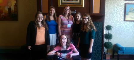 students at accessibility conference