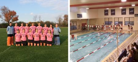 field hockey and swim teams