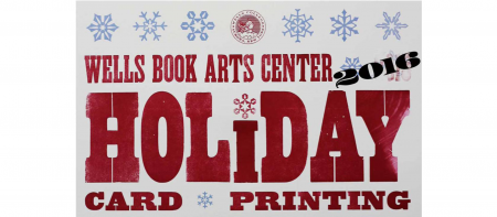 holiday card poster with snowflake graphics