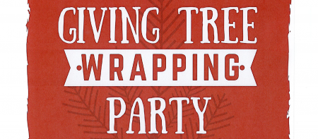 giving tree wrapping party graphic