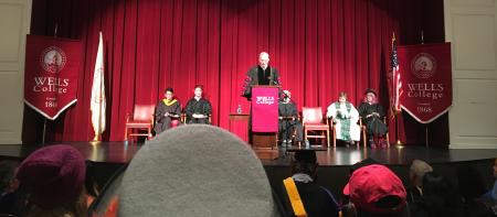 president gibralter and speakers on the stage in phipps