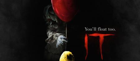"image from ""It"" trailer: balloon with the words ""you'll float, too"""
