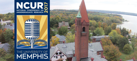 NCUR logo and Wells aerial view
