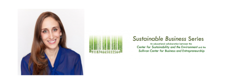 Laura Ornstein and Sustainable Business Series logo
