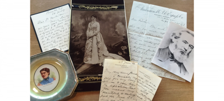 handwritten letters and historic photos