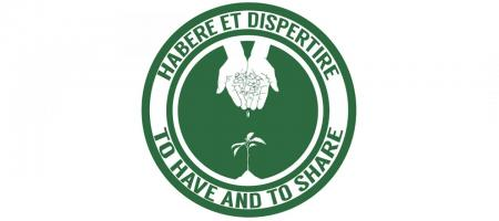 "seed exchange logo with college motto ""to have and to share"""