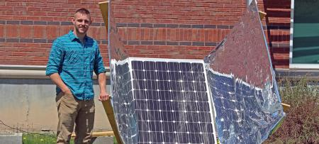 tyler morris with solar panels
