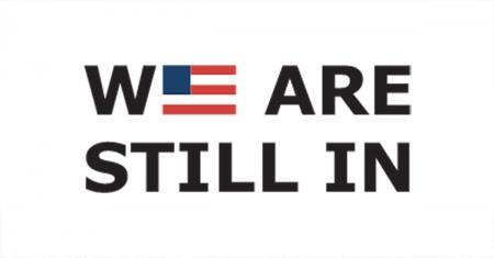 we are still in text logo