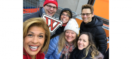 hoda kotb with wells staff members