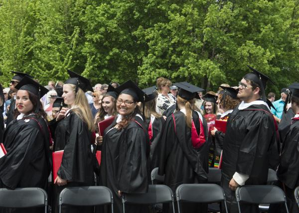 Students at Commencement 2015