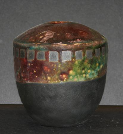 raku pot by Jennifer VanWormer