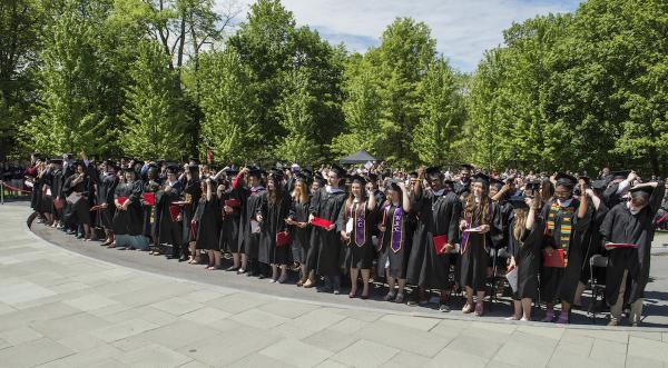 students and audience at commencement