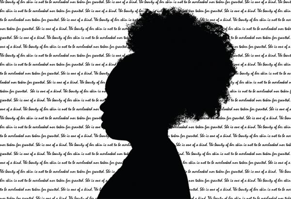 silhouette of woman and text
