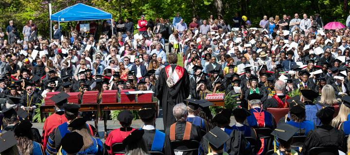 view of Commencement from the stage