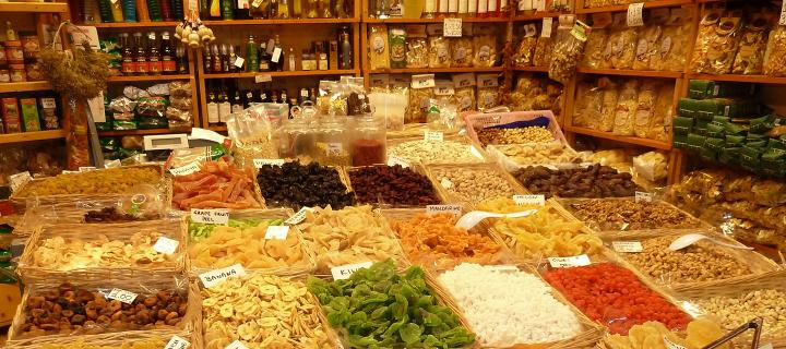 produce in an Italian market