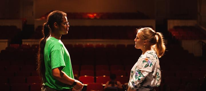 Mohammed Williams '22 (Eurydice's Father) and Ally Collins '20 (Eurydice)