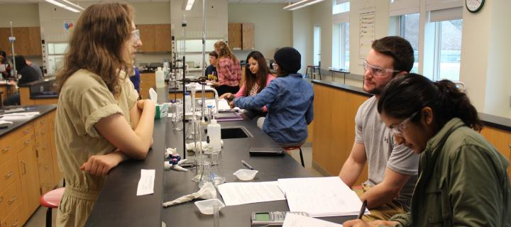 students in chemistry laboratory