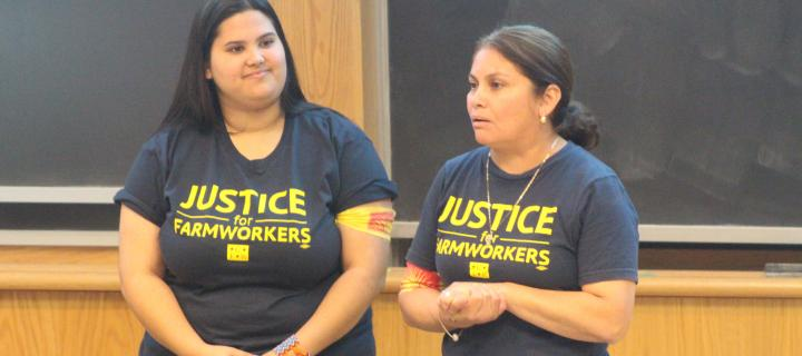 Speakers on farm workers' equality