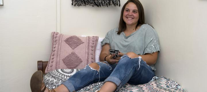 Wells College student in residence hall