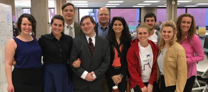 student teams at the business plan competition