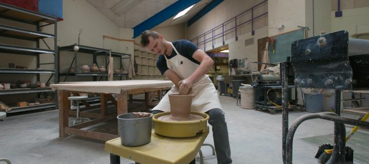 pottery making in the studio