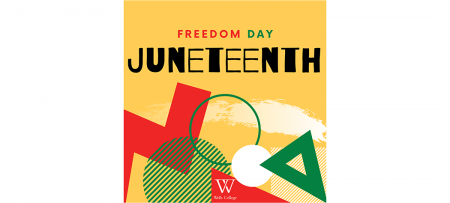 "Juneteenth graphic with headline, ""Freedom Day"""
