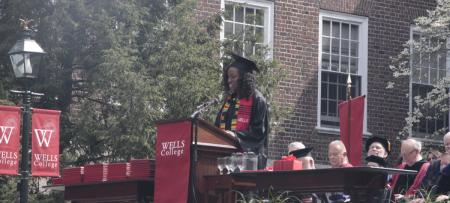 Phylicia Green speaking at Commencement