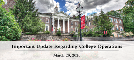 "Graphic: ""Important Update Regarding College Operations, March 20"""