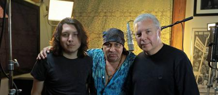 Ryan Johnson, musician Steven Van Zandt, and Tim Johnson