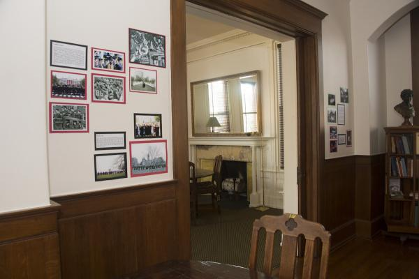 History Display in Faculty Parlors 01