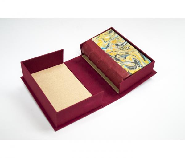 hand bound book and case by Aala Al-Hashimi
