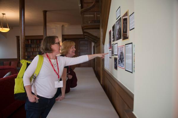 Alumnae at History of Wells Exhibit