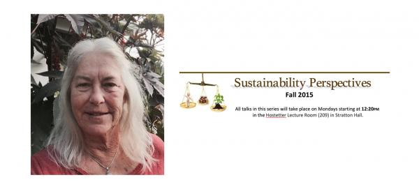 Jennifer Johnson and Sustainability Perspectives Series graphic