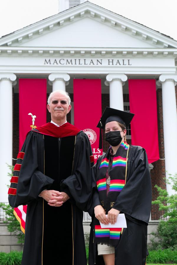 President Gibralter with Mollie Walts '21