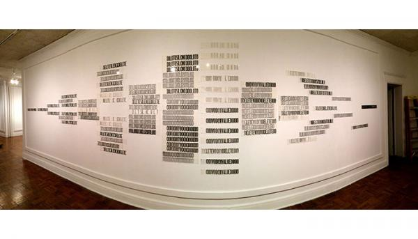 Text Installation by H. R. Buechler